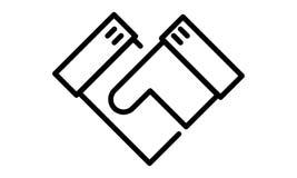 Pictogramme - poignée de main, affaire, serrez-vous la main, mains, affaires - objet, icône, symbole Photo stock