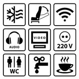 Pictogramme pour l'autobus touristique Photographie stock libre de droits