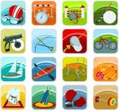 Pictogrammen 02 van de sport Stock Foto