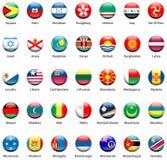 Pictogrammen 05 van de Vlag van de wereld Royalty-vrije Stock Foto's