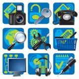 Pictogrammen 1 van de website en van Internet Stock Afbeeldingen