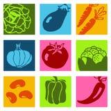 Pictogrammen 1 van groenten Royalty-vrije Stock Fotografie