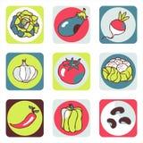 Pictogrammen 1 van groenten Stock Illustratie