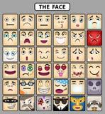 Pictogrammen 1 van het gezicht stock illustratie