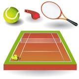 Pictogrammen 1 van het tennis Stock Afbeelding