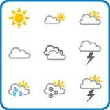 Pictogrammen 1 van het weer vector illustratie