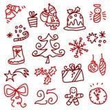 Pictogrammen 1 van Kerstmis Royalty-vrije Stock Afbeeldingen
