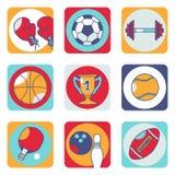 Pictogrammen 1 van sporten Stock Illustratie