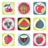 Pictogrammen 1 van vruchten Royalty-vrije Illustratie