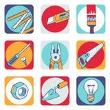 Pictogrammen 2 van hulpmiddelen Stock Illustratie