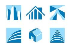 Pictogrammen 2 van onroerende goederen Stock Afbeeldingen