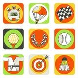 Pictogrammen 2 van sporten Stock Illustratie