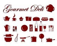 Pictogrammen 3 van het voedsel Stock Afbeelding