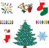 Pictogrammen 3 van Kerstmis royalty-vrije illustratie