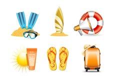 Pictogrammen 4 van de vakantie en van de vakantie Royalty-vrije Stock Foto