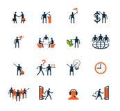 Pictogrammen de bedrijfs van Mensen Beheer, personeel Stock Foto