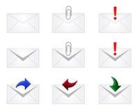 Pictogrammen de e-mail van de Envelop Stock Foto's