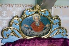 Pictogrammen in de oude tempel Royalty-vrije Stock Afbeeldingen