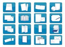 Pictogrammen die materiaal afdrukken Royalty-vrije Stock Afbeeldingen
