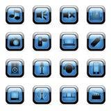 Pictogrammen die voor Webtoepassingen worden geplaatst Royalty-vrije Stock Foto
