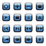 Pictogrammen die voor Webtoepassingen worden geplaatst Royalty-vrije Stock Afbeeldingen