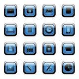 Pictogrammen die voor Webtoepassingen worden geplaatst Stock Foto