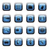 Pictogrammen die voor Webtoepassingen worden geplaatst Royalty-vrije Stock Afbeelding