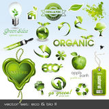 Pictogrammen: eco & bio II Royalty-vrije Stock Afbeelding
