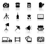 Pictogrammen geplaatst fotografie Stock Afbeeldingen