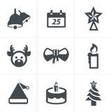 Pictogrammen geplaatst Kerstmis Royalty-vrije Stock Afbeelding