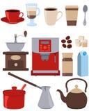 Pictogrammen geplaatst koffie vector illustratie