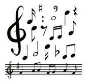 Pictogrammen geplaatst muzieknota Royalty-vrije Stock Fotografie