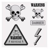 Pictogrammen het waarschuwen stock illustratie
