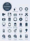 Pictogrammen met elektronische apparaten Royalty-vrije Stock Fotografie