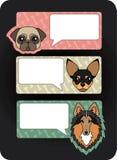 Pictogrammen met huisdieren Stock Afbeeldingen