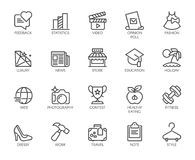 Pictogrammen op manier, vrije tijd, sporten, hobby, gezonde levensstijl, vrijheidsthema Etiket voor infographic, plaatsen en mobi Stock Afbeeldingen