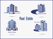 pictogrammen Real Estate Royalty-vrije Stock Foto
