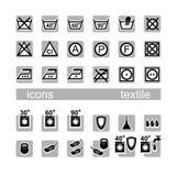 Pictogrammen, textiel Royalty-vrije Stock Foto