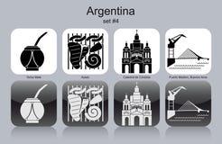 Pictogrammen van Argentinië vector illustratie