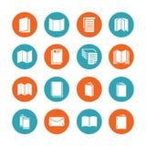 Pictogrammen van brochure de vlakke glyph Bedrijfsidentiteitsillustraties - briefhoofd, boekje, vlieger, pamflet, collectieve cat stock illustratie