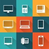 Pictogrammen van computers vector illustratie