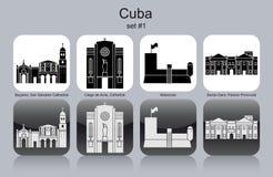 Pictogrammen van Cuba Stock Foto