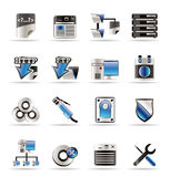 Pictogrammen van de Computer van de server de Zij Royalty-vrije Stock Afbeelding