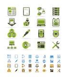 Pictogrammen van de Computer van de server de Zij royalty-vrije illustratie