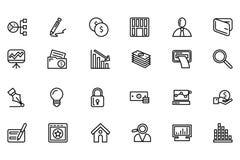 Pictogrammen 6 van de financiënlijn Royalty-vrije Stock Afbeelding
