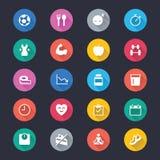 Pictogrammen van de gezondheidszorg de eenvoudige kleur royalty-vrije illustratie