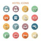 Pictogrammen van de hotel de lange schaduw Stock Afbeelding