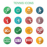 Pictogrammen van de tennis de lange schaduw Royalty-vrije Stock Fotografie