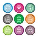 Pictogrammen van de verkiezings de vlakke stijl Stock Foto