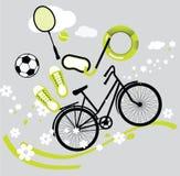 Pictogrammen van de zomersport Stock Foto's